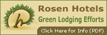 Rosen Hotels Green Lodging Efforts Button